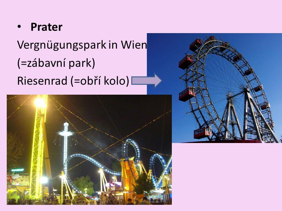 Prater Vergnügungspark in Wien (=zábavní park) Riesenrad (=obří kolo)
