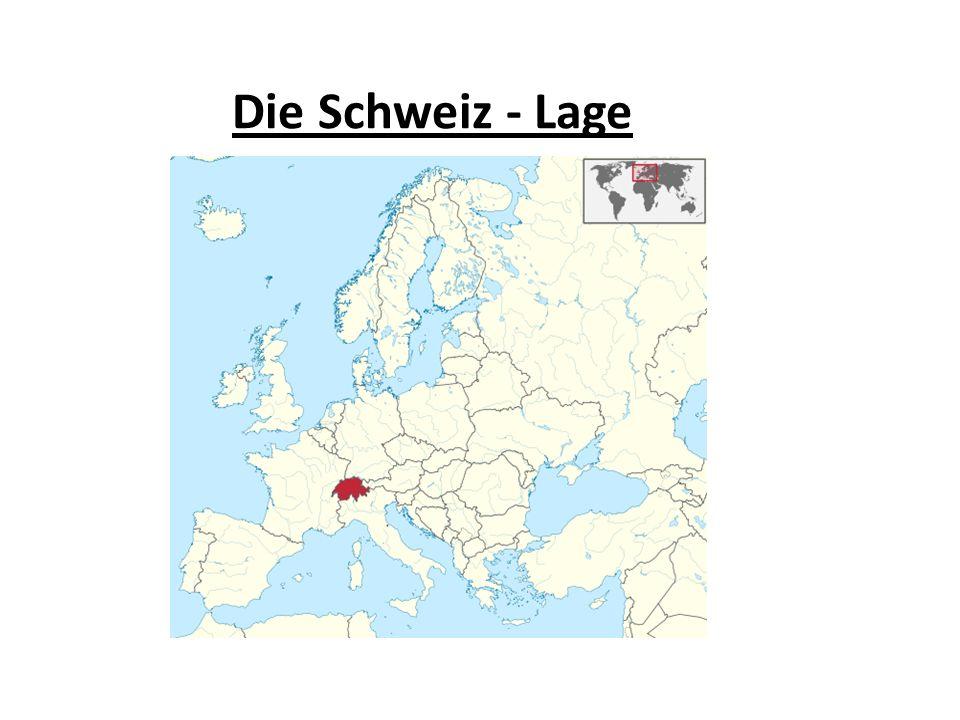 Lage und Fläche Wo liegt die Schweiz.An welche Länder grenzt sie.