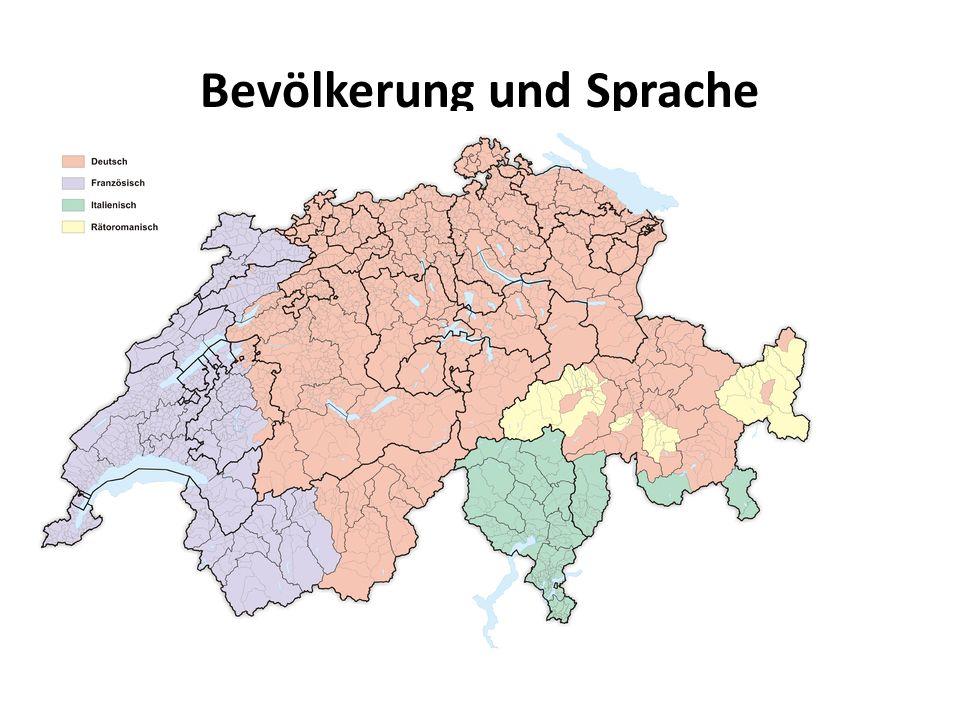 Wie viele Einwohner hat die Schweiz.In der Schweiz gibt es vier offizielle Landessprachen.