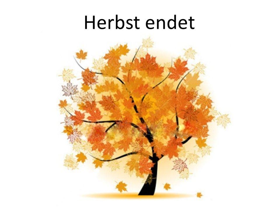 Herbst endet