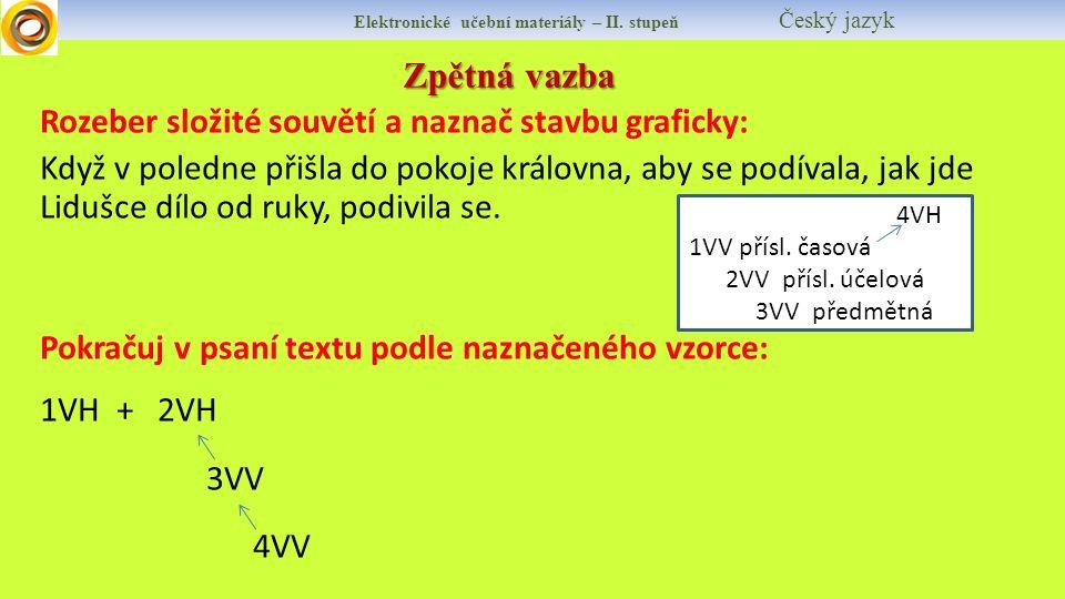 Zpětná vazba Elektronické učební materiály – II.