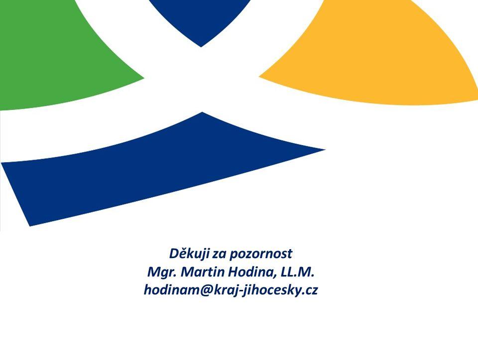 Děkuji za pozornost Mgr. Martin Hodina, LL.M. hodinam@kraj-jihocesky.cz
