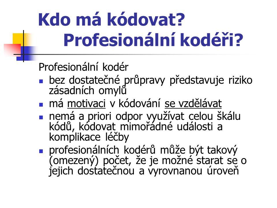 Kdo má kódovat. Profesionální kodéři.