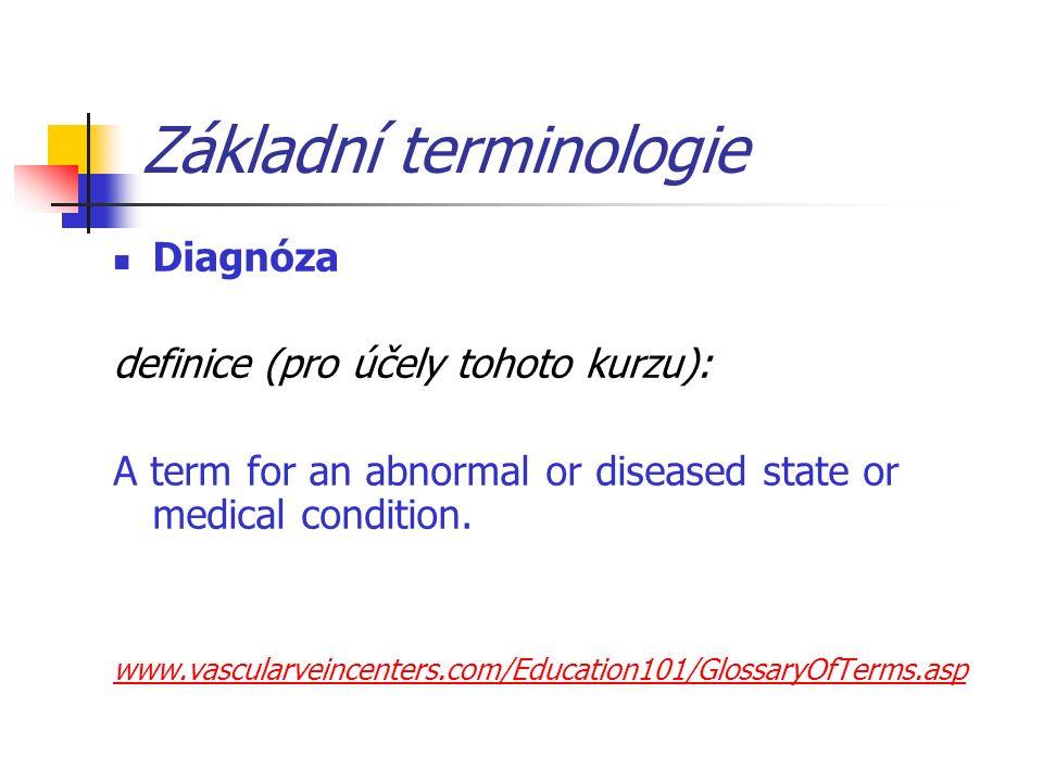"""Minimální standard diagnóz propouštěcí zprávy Standard propouštěcí zprávy vyžaduje dělení: 1.Základní diagnóza 2.Ostatní diagnózy 1.""""aktivní (ve smyslu DRG kriterií) 1.Komorbidity 2.Komplikace 2."""