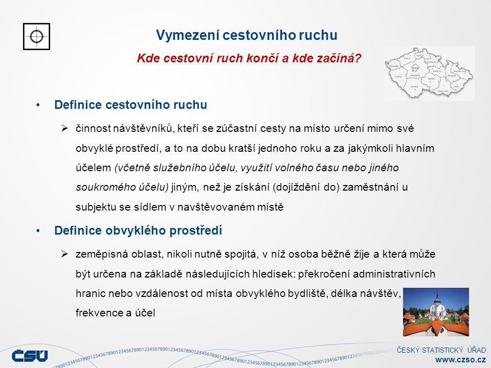 ČESKÝ STATISTICKÝ ÚŘAD www.czso.cz Vymezení cestovního ruchu Kde cestovní ruch končí a kde začíná.