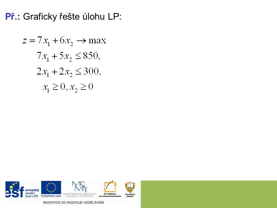 Př.: Graficky řešte úlohu LP: