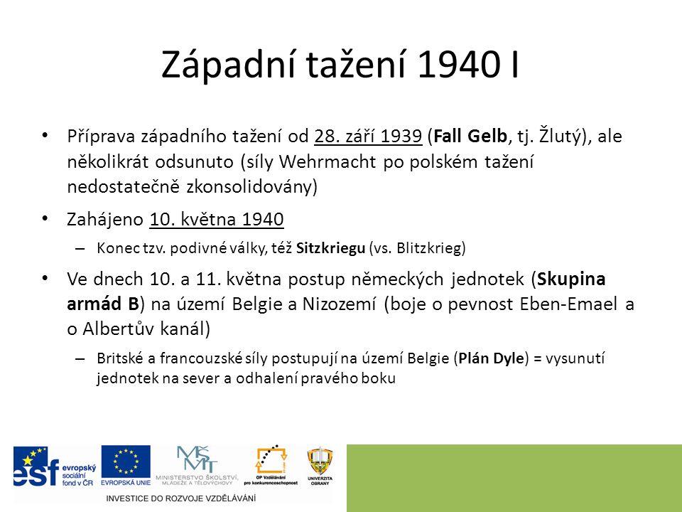 Západní tažení 1940 I Příprava západního tažení od 28.