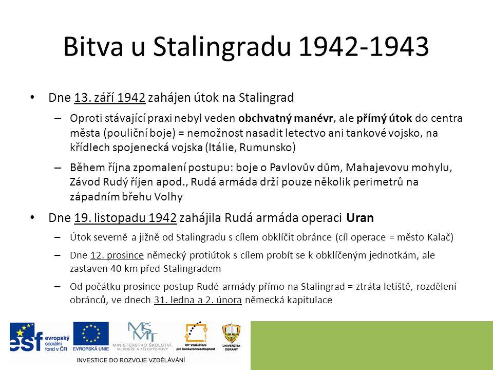 Bitva u Stalingradu 1942-1943 Dne 13.