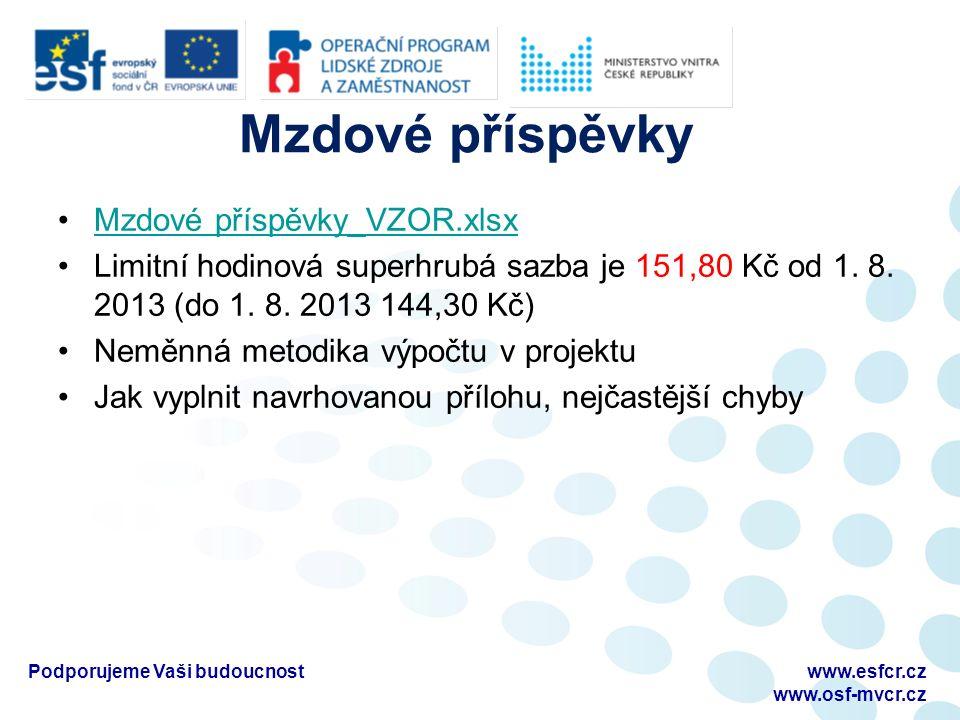 Mzdové příspěvky Mzdové příspěvky_VZOR.xlsx Limitní hodinová superhrubá sazba je 151,80 Kč od 1.