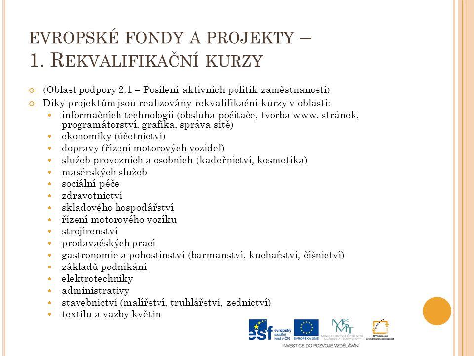 EVROPSKÉ FONDY A PROJEKTY – 1.