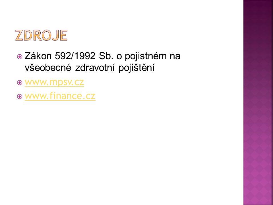  Zákon 592/1992 Sb.