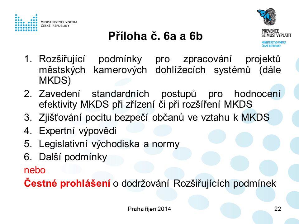Praha říjen 201422 Příloha č.