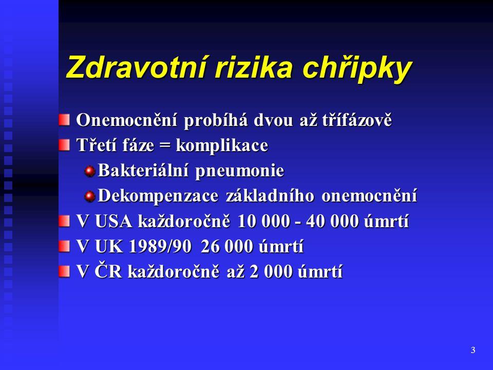 14 Kolik stojí chřipka, rýma a nachlazení Chřipka nemocenské dávky - 2,1 mld.