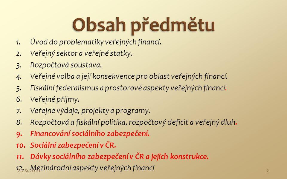Ve ř ejné finance 9 - 11 31.1.20111