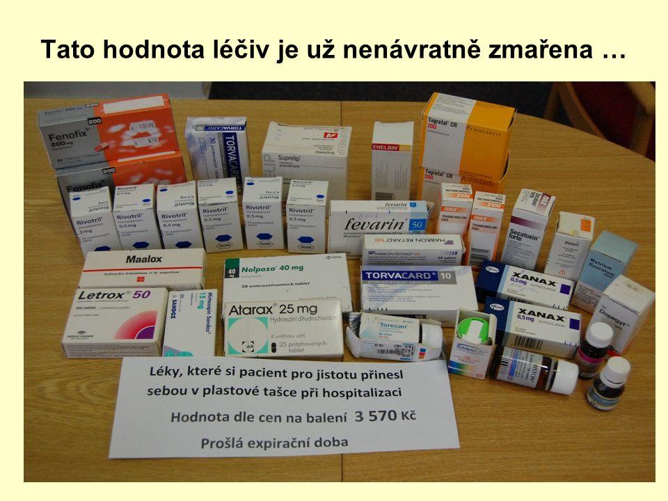Tato hodnota léčiv je už nenávratně zmařena …
