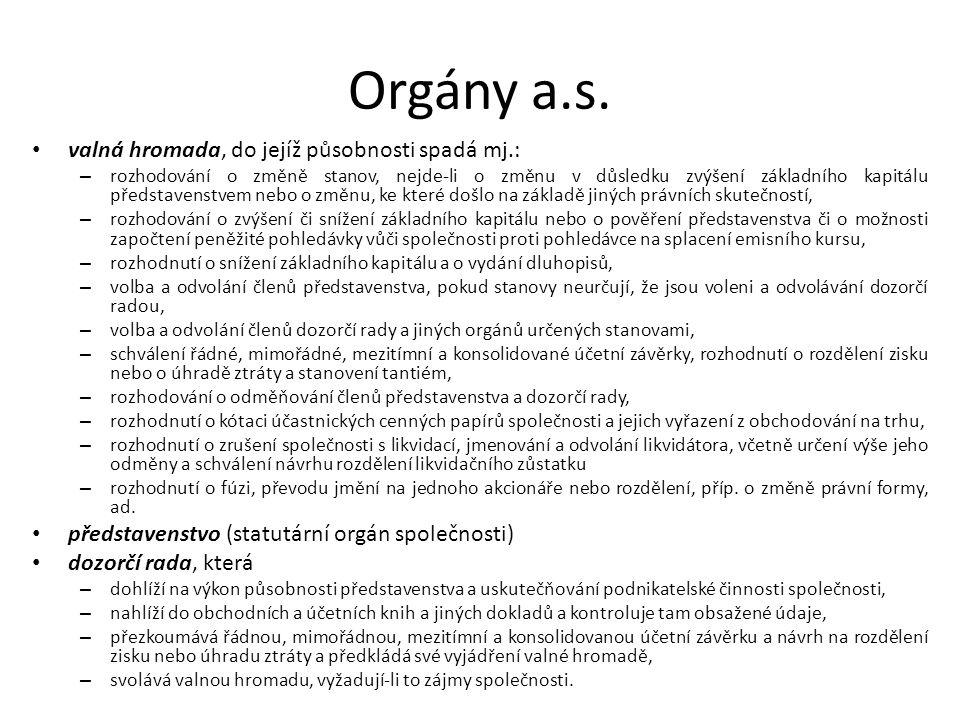 Orgány a.s.