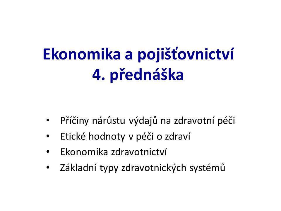 Ekonomika a pojišťovnictví 4.
