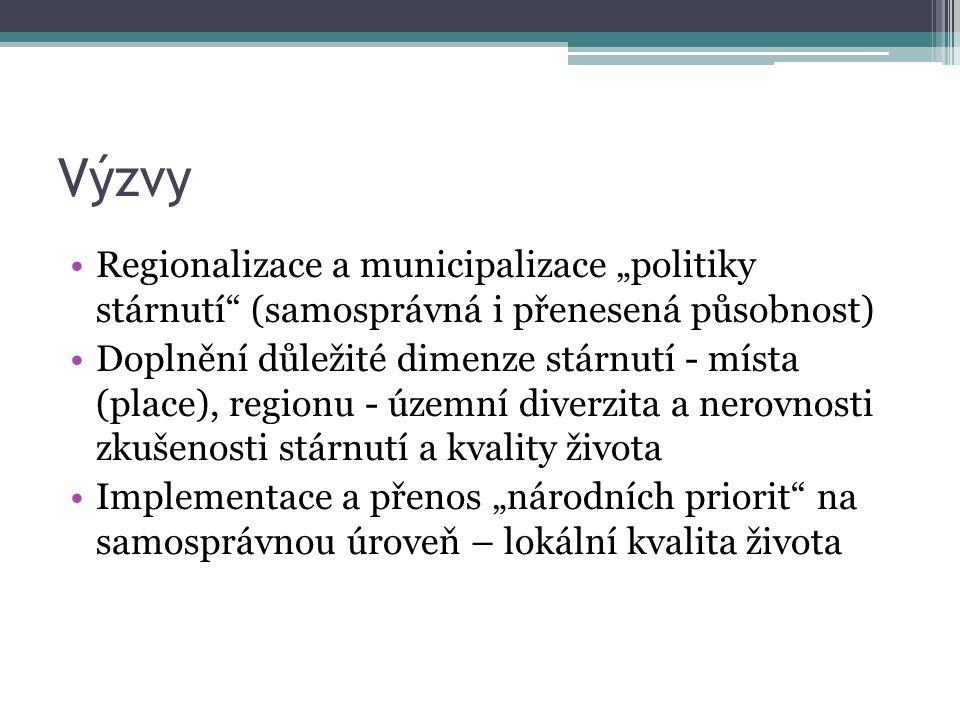 """Výzvy, úkoly Kritická je místní úroveň (struktura politik a priorit) Partnerství obcí a vlády (státu) Diverzita obcí i praxe, """"nepraxe Různé úrovně samosprávy - různé priority a možnosti Implementační a komunikační struktura NAPPS x politik (dlouhodobé téma)."""