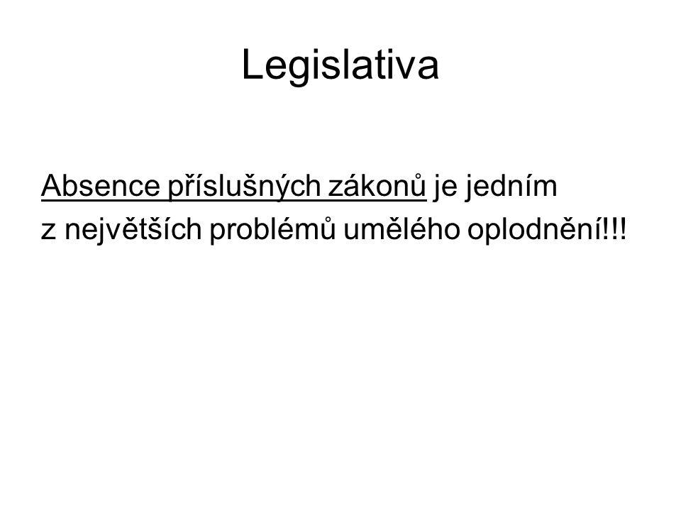 Legislativa Absence příslušných zákonů je jedním z největších problémů umělého oplodnění!!!