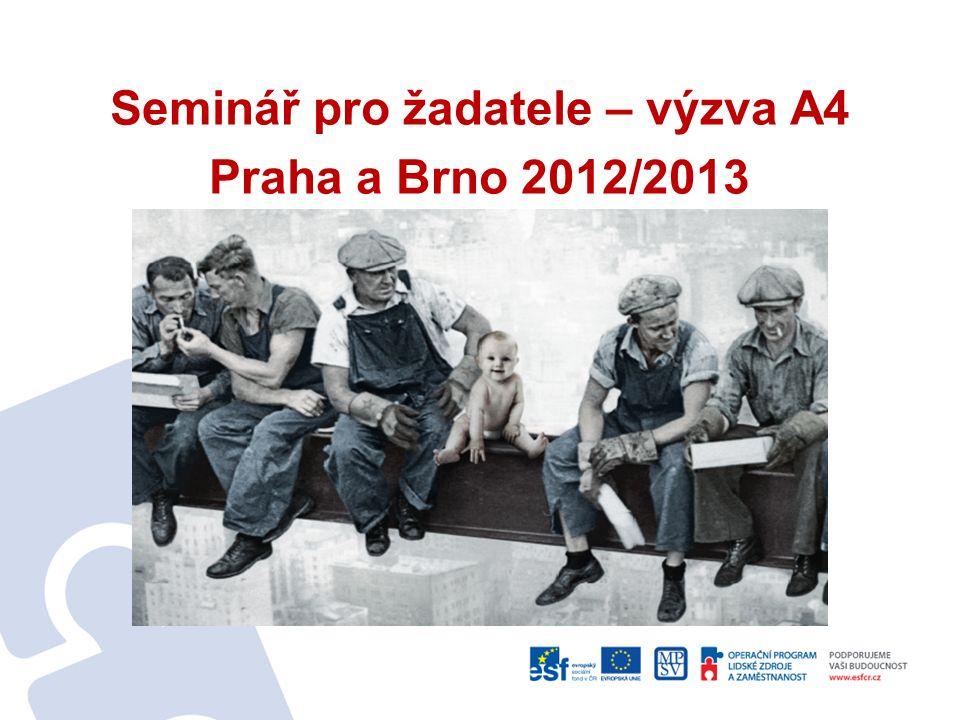 Seminář pro žadatele – výzva A4 Praha a Brno 2012/2013