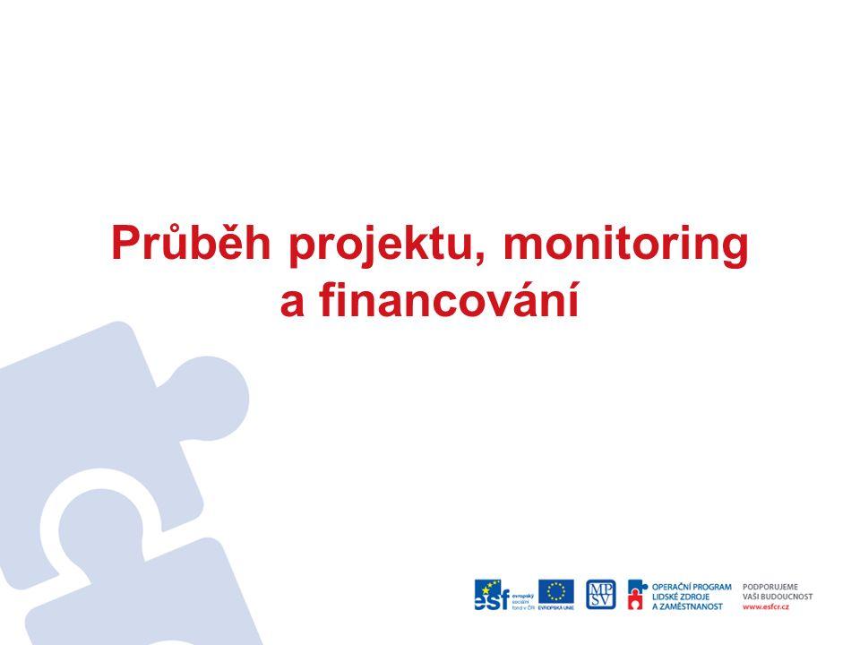 Průběh projektu, monitoring a financování