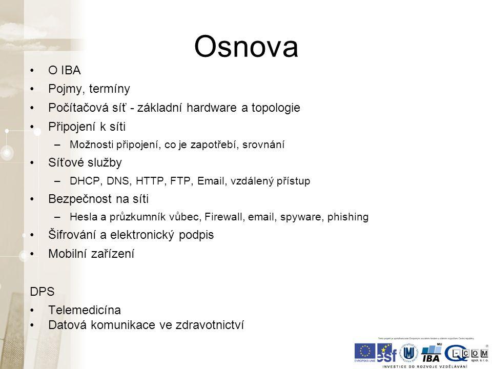 Wi-Fi připojení - rychlost zdroj: www.dsl.cz V rozmezí 5 – 21 Mb/s Průměr kolem 10 Mb/s