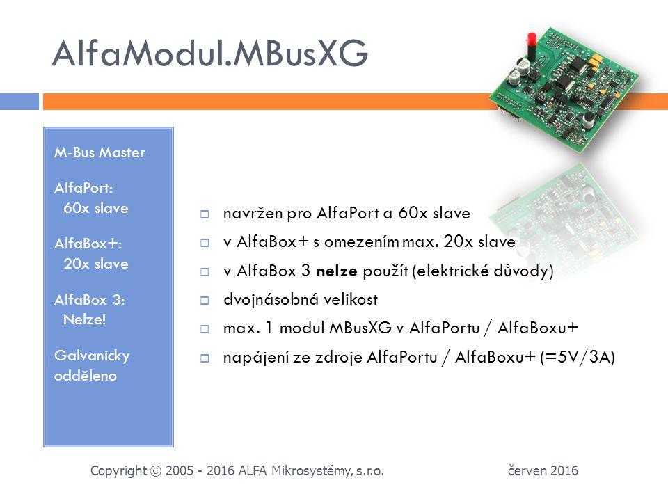 AlfaModul.GSM Režim SMS, vytáčená a paketová data AlfaBox 3: Nelze.
