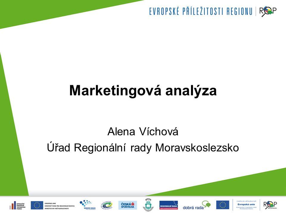 Marketingová analýza Alena Víchová Úřad Regionální rady Moravskoslezsko