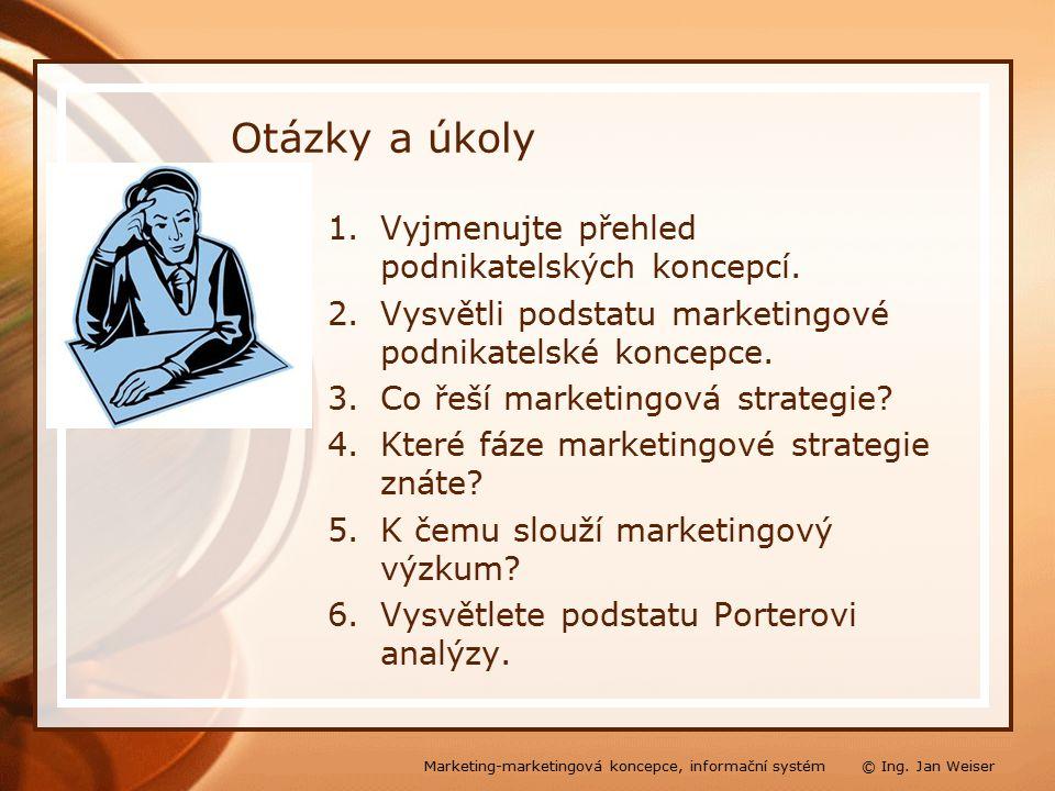 Otázky a úkoly 1.Vyjmenujte přehled podnikatelských koncepcí.