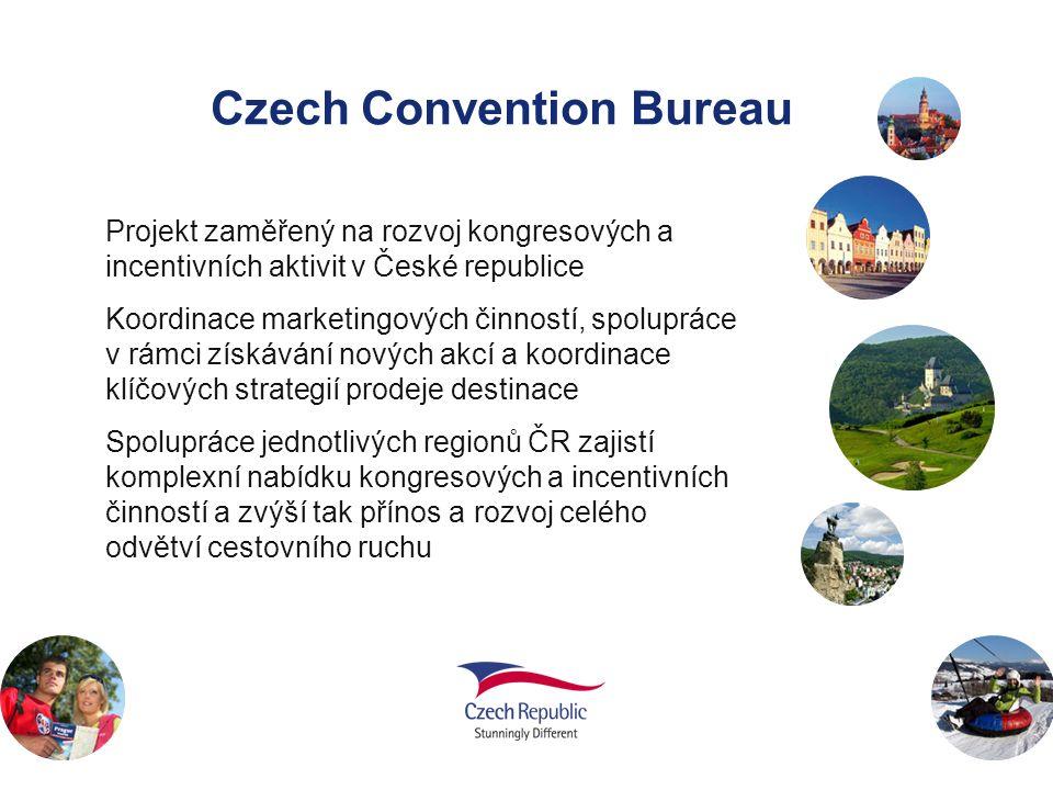 Czech Convention Bureau Projekt zaměřený na rozvoj kongresových a incentivních aktivit v České republice Koordinace marketingových činností, spoluprác