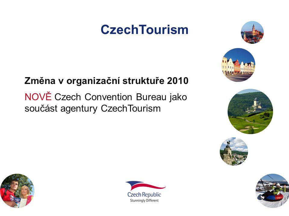 CzechTourism Změna v organizační struktuře 2010 NOVĚ Czech Convention Bureau jako součást agentury CzechTourism