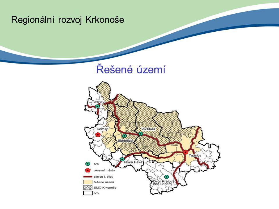 Řešené území Regionální rozvoj Krkonoše
