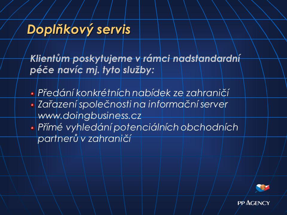 Doplňkový servis Doplňkový servis Klientům poskytujeme v rámci nadstandardní péče navíc mj.
