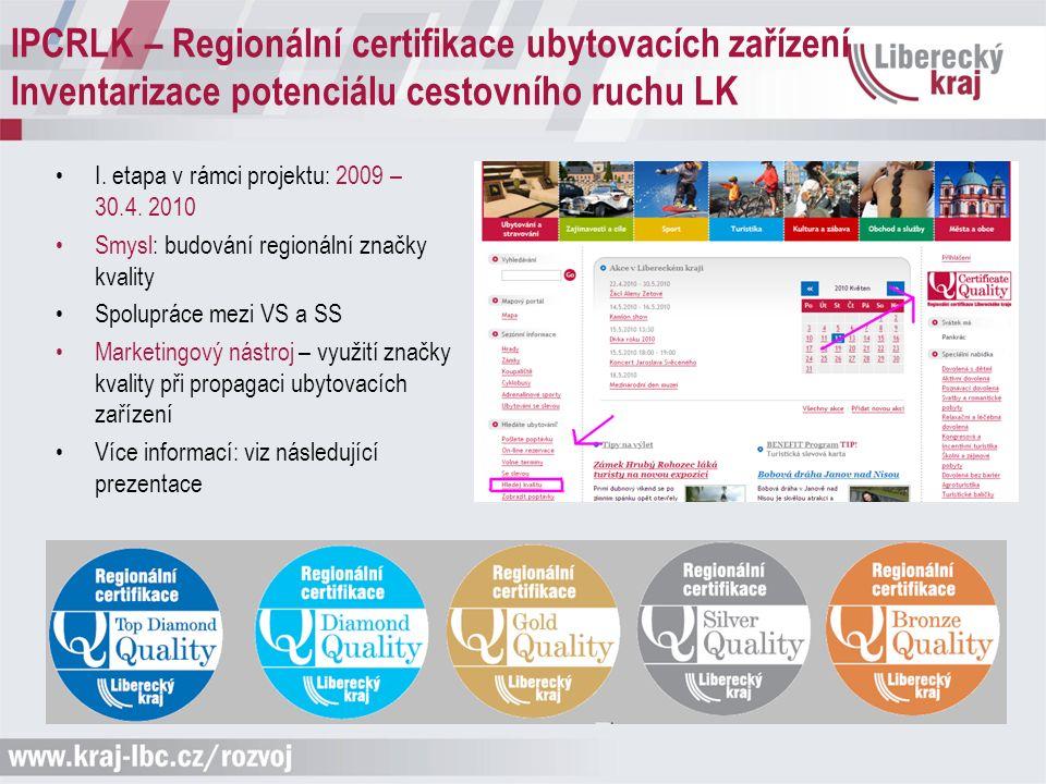 I. etapa v rámci projektu: 2009 – 30.4.