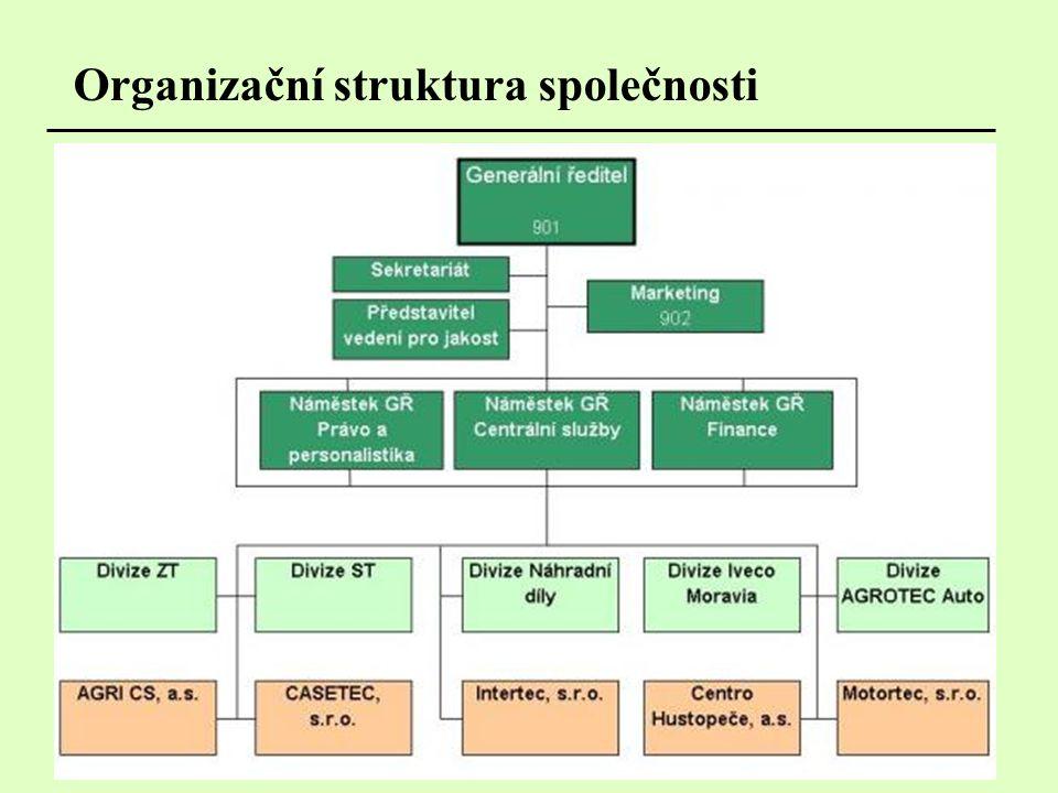 Organizační struktura společnosti