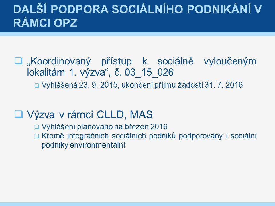 """ """"Koordinovaný přístup k sociálně vyloučeným lokalitám 1."""