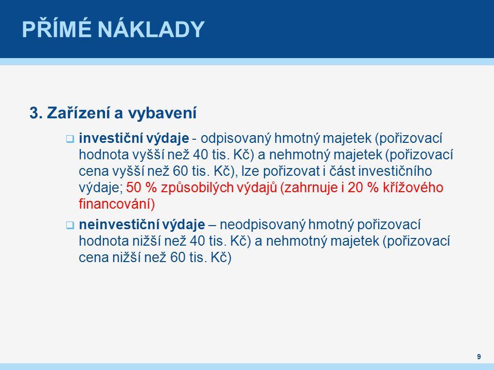 PŘÍMÉ NÁKLADY 3.