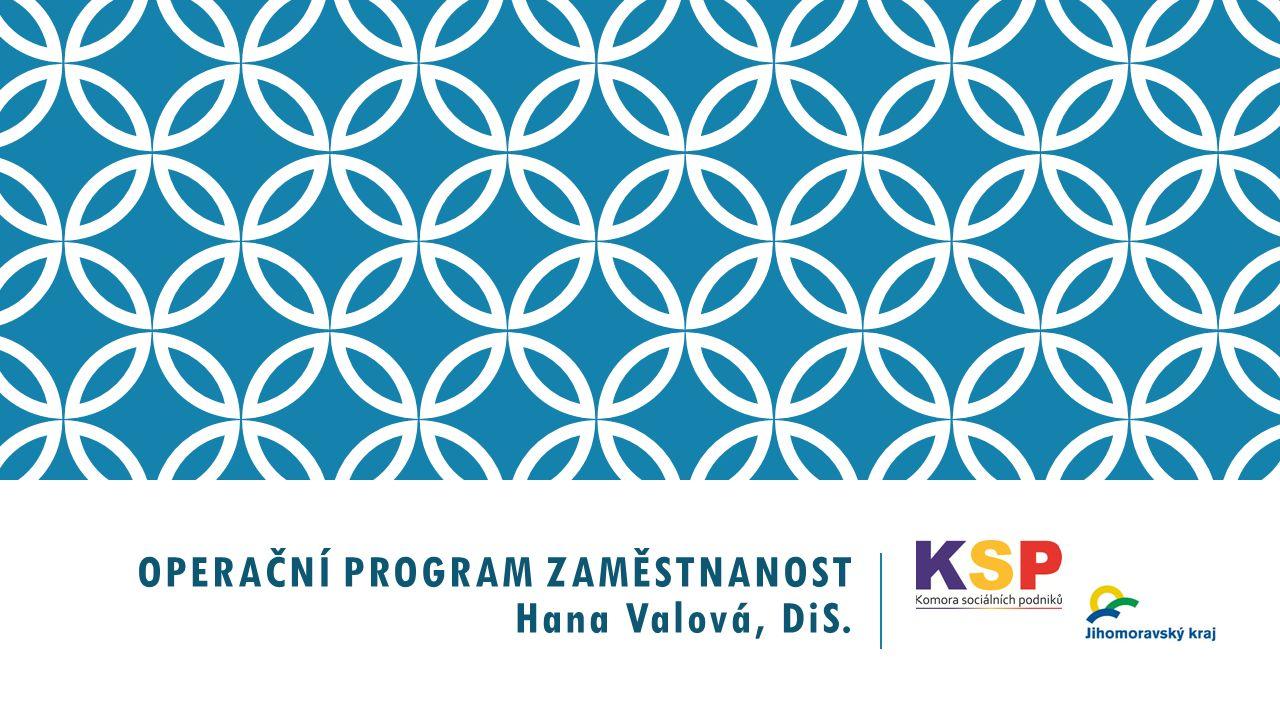 OPERAČNÍ PROGRAM ZAMĚSTNANOST Hana Valová, DiS.