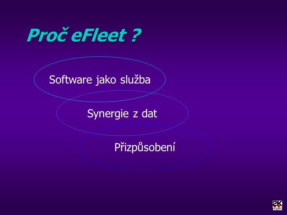 Proč eFleet ? Software jako služba Synergie z dat Přizpůsobení