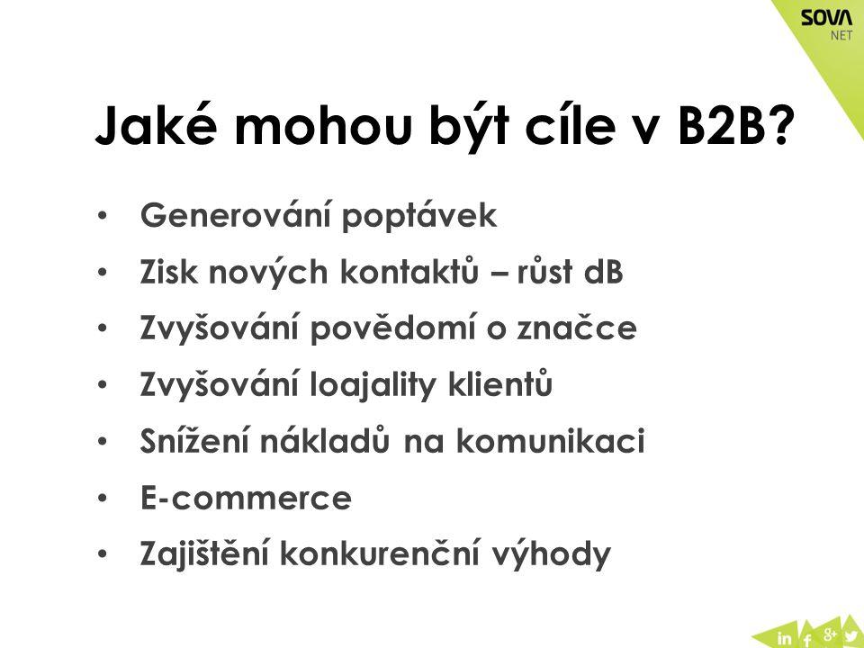 Jaké mohou být cíle v B2B.