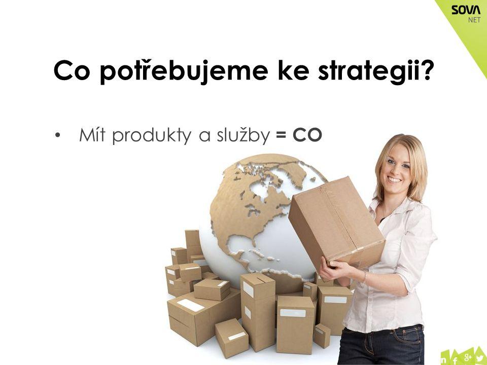 Co potřebujeme ke strategii? Mít produkty a služby = CO