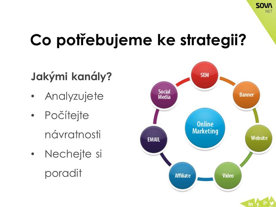 Co potřebujeme ke strategii? Jakými kanály? Analyzujete Počítejte návratnosti Nechejte si poradit