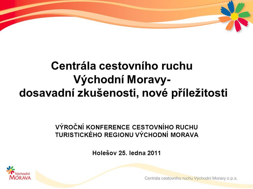 Centrála cestovního ruchu Východní Moravy- dosavadní zkušenosti, nové příležitosti VÝROČNÍ KONFERENCE CESTOVNÍHO RUCHU TURISTICKÉHO REGIONU VÝCHODNÍ MORAVA Holešov 25.