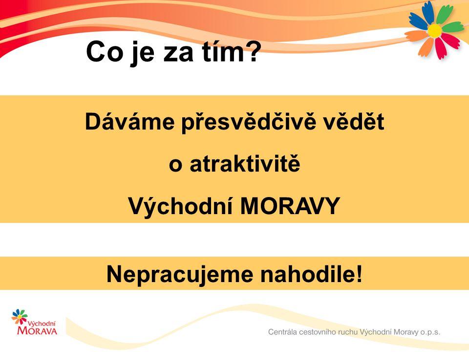 Co je za tím Dáváme přesvědčivě vědět o atraktivitě Východní MORAVY Nepracujeme nahodile!