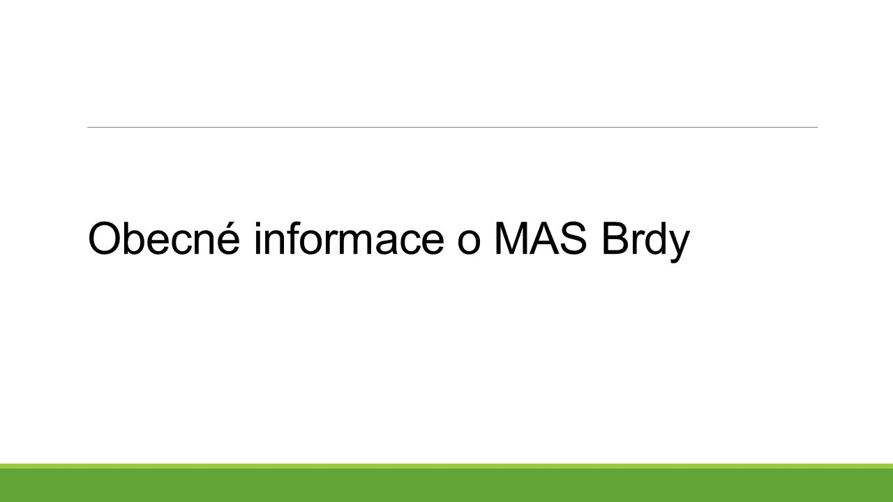 Obecné informace o MAS Brdy