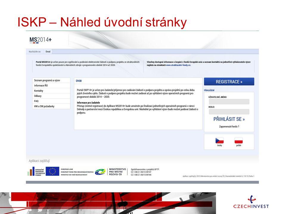 ISKP – Náhled úvodní stránky