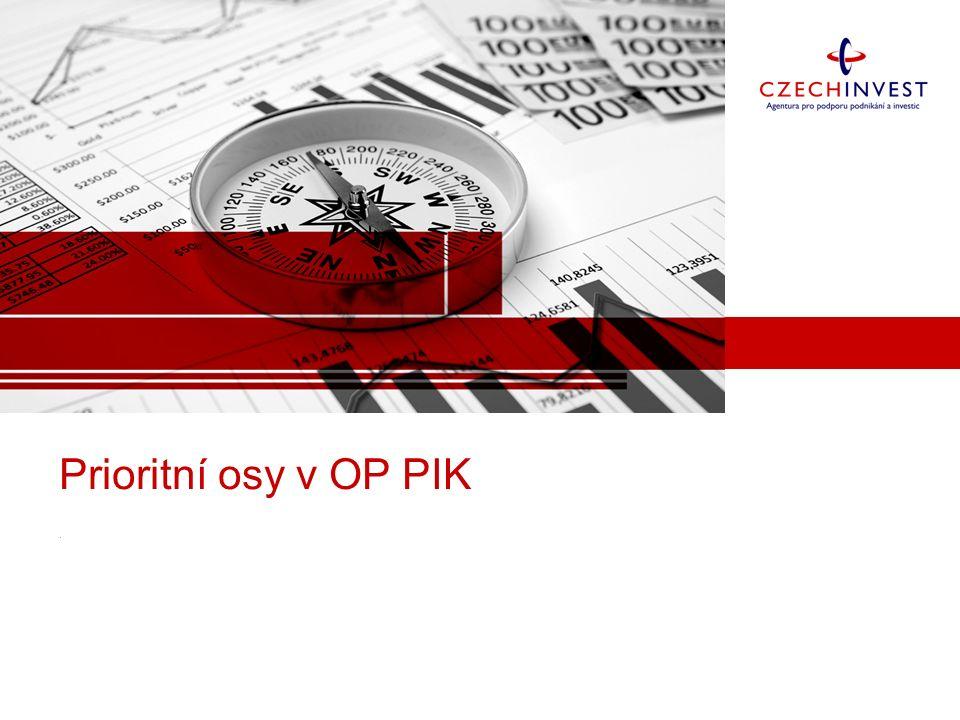 Prioritní osy v OP PIK.