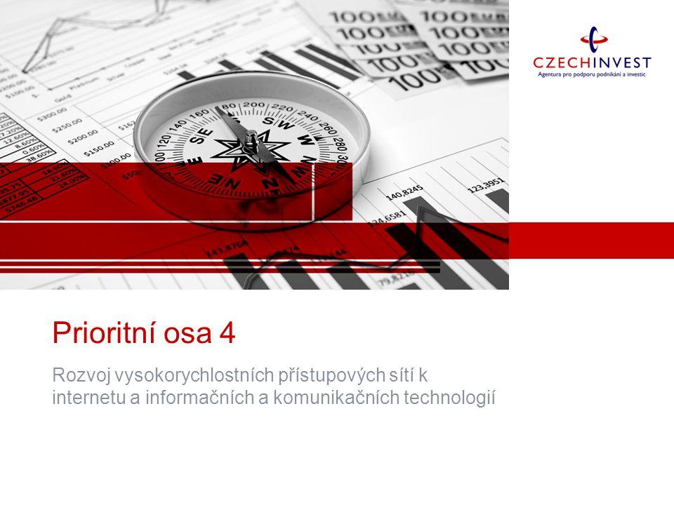 Prioritní osa 4 Rozvoj vysokorychlostních přístupových sítí k internetu a informačních a komunikačních technologií