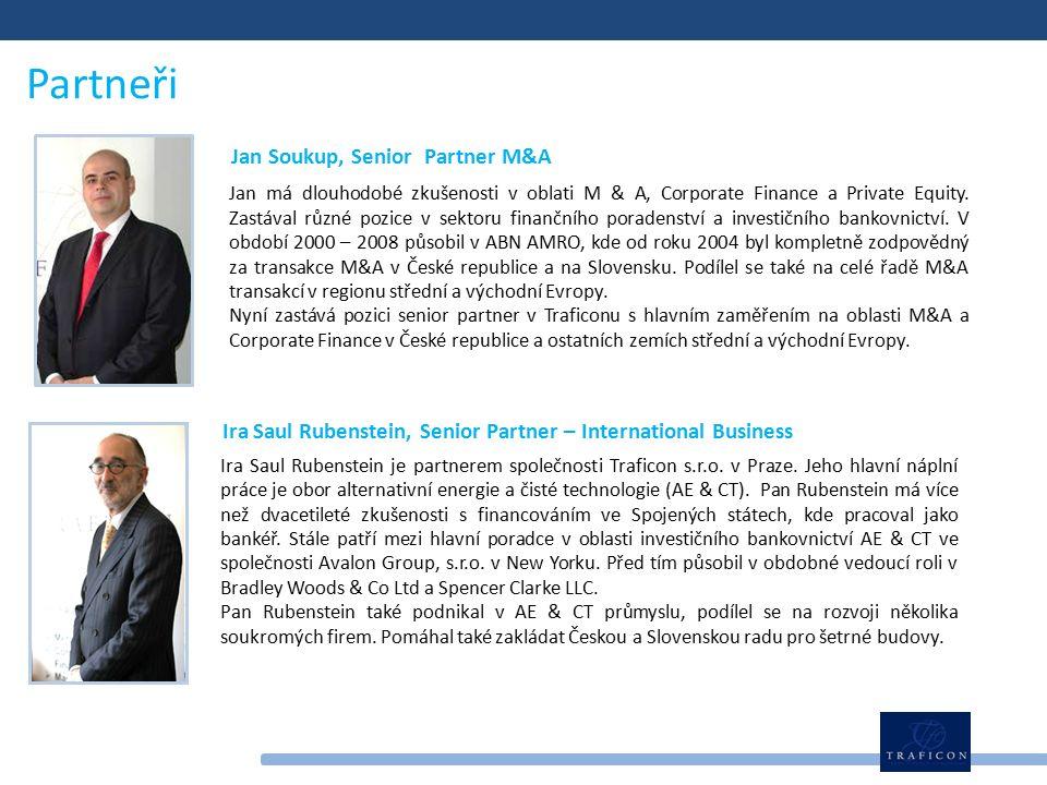 Partneři Jan má dlouhodobé zkušenosti v oblati M & A, Corporate Finance a Private Equity.