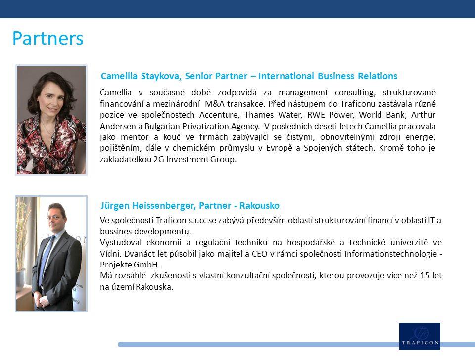 Partners Camellia v současné době zodpovídá za management consulting, strukturované financování a mezinárodní M&A transakce.